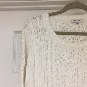 Madewell cotton sweater. Size M